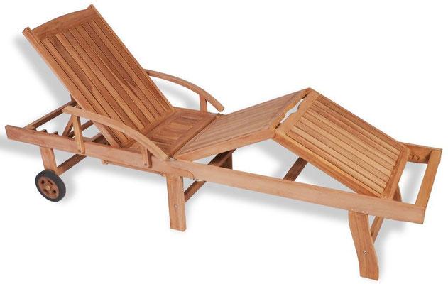 lettino sdraio +legno + teak +ruote +arredo +giardino