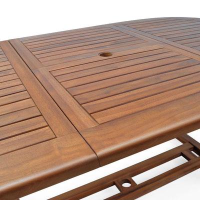 tavolo +arredo +giardino +legno +allungabile +acacia +eucalipto