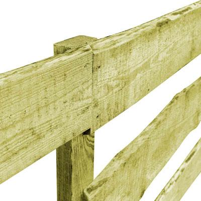 recinzione #legno #impregnato #autoclave #giardino #rustica