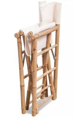 sedia +regista +pieghevole +bambù +bamboo