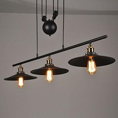 Lampadario +vintage +puleggia +old style +luce +soffitto +industrial +sandro +shop +shopping +vendita +online +lampada