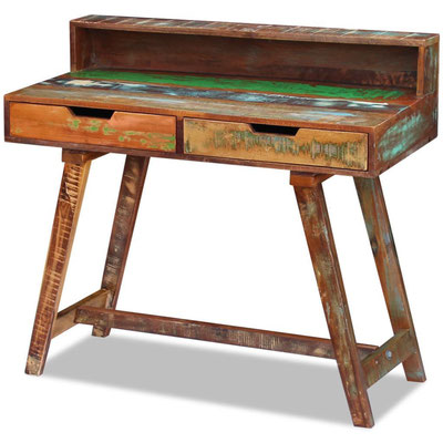scrivania +legno riciclato + recupero +vintage +60 +old+ sandro shop +vendita +online