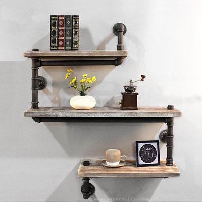 mensole +tubi +idraulici +vintage +stile +industriale +pollici