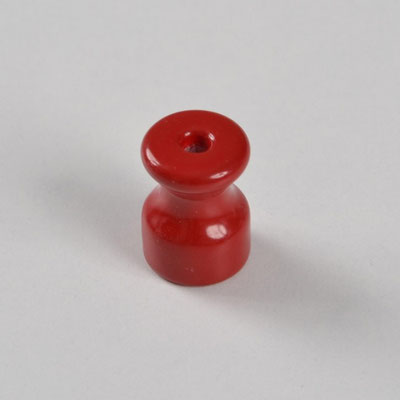 isolatore #ceramica #porcellana #colorata #impianto # a vista #vintage #rosso