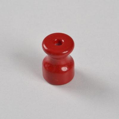 isolatore #ceramica #porcellana #colorata #impianto # a vista #vintage #rosso #isolant en céramique #Keramikisolator #ceramic insulator