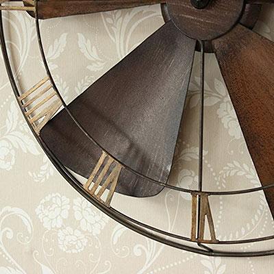 orologio +parete +vintage +elica +ventilatore +sandro shop