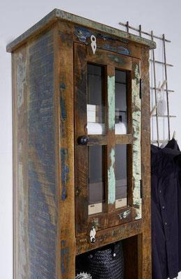 mobile bagno +arredo +legno +riciclato +colonna +sandro shop +vintage +industriale