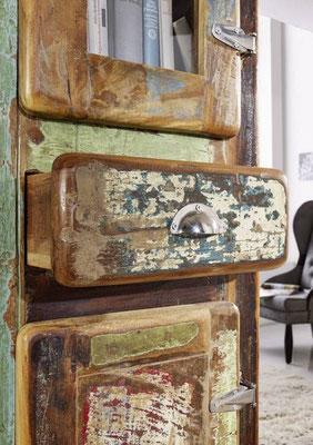 armadio #vetrina #legno riciclato