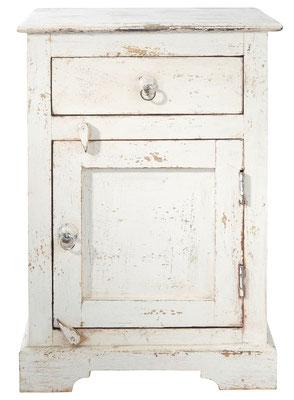 comodino #legno #provenzale #stile #invecchiato #usato #anticato #bianco #Shabby #pastello