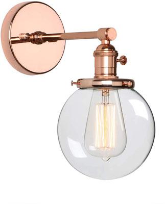 lampada a parete #vintage #industriale #oro #rosa #sandroshop +vetro +boccia