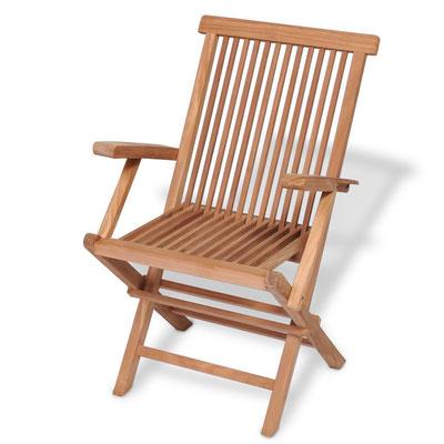sedia +pieghevole +braccioli +teak +legno +mobili +esterno +giardino +arredo
