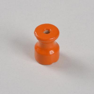 isolatore #ceramica #porcellana #colorata #impianto # a vista #vintage #arancio