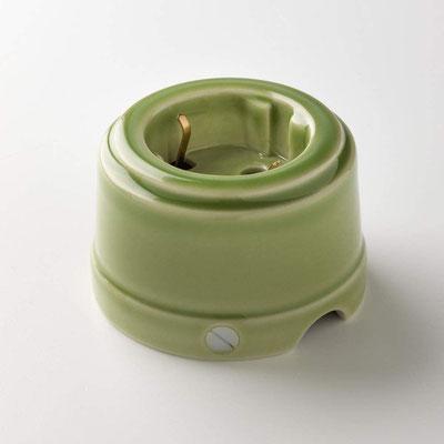 presa #unel #ceramica #klartext #impianto #elettrico #vintage #verde #lucido