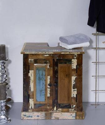 arredo bagno +legno riciclato +vintage +lavello +sottolavello +mobile +sandroshop