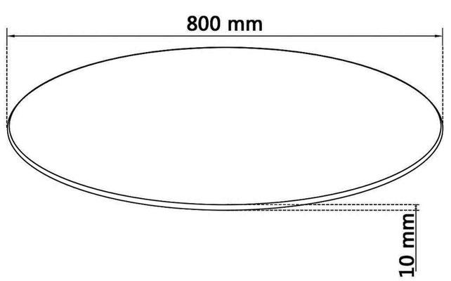 vetro #temperato #diametro #80 #rotondo