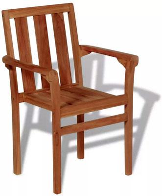 sedia #impilabile #teak #esterno #giardino #impilabile #bracciolo #arredo #sandro #shop #online