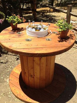 arredo +giardino +tavolo +ombrellone +bobina +legno +riciclo +sandro +shop +online +shopping +vendita +flangia