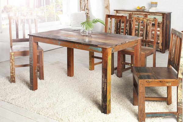 Tavoli Da Pranzo In Legno Riciclato : Tavoli in legno riciclato benvenuti su sandro shop
