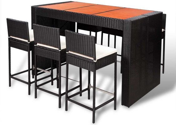 Tavolo Alto + 6 Sgabelli Bar - Benvenuti su Sandro Shop
