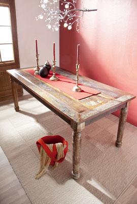 tavolo #legno #riciclato #vintage #etnico #chic