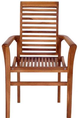 sedia #teak #impilabile #braccioli