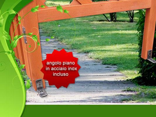 arco +grigliato +rampicanti +cancello +giardino +impregnato