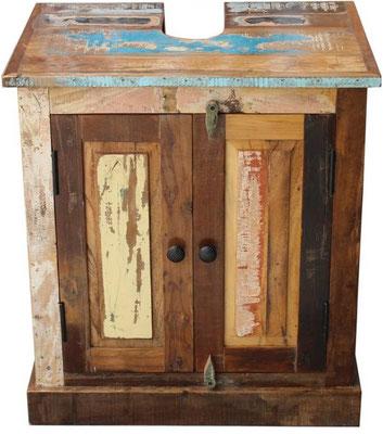mobile bagno +legno +riciclato +vintage +sotto lavandino +bagno +arredo +sandro shopping online +vendita