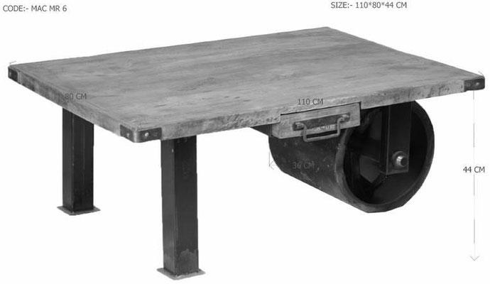 tavolino +industriale +stile +loft +mango +used +look +vintage +ferrovia +sandroshop +online +vendita