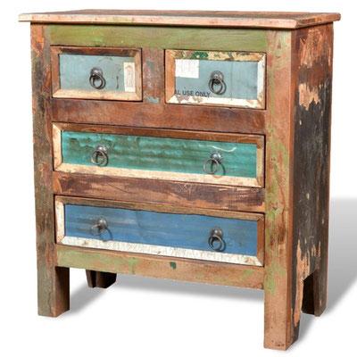 mobile basso legno riciclato vintage