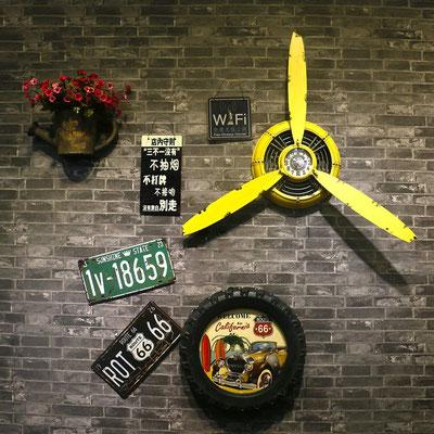 orologio #parete #elica #vintage #giallo