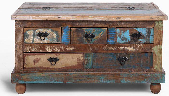tavolo #legno #recupero #basso #riciclato #scomparto #vintage #industriale #caffè