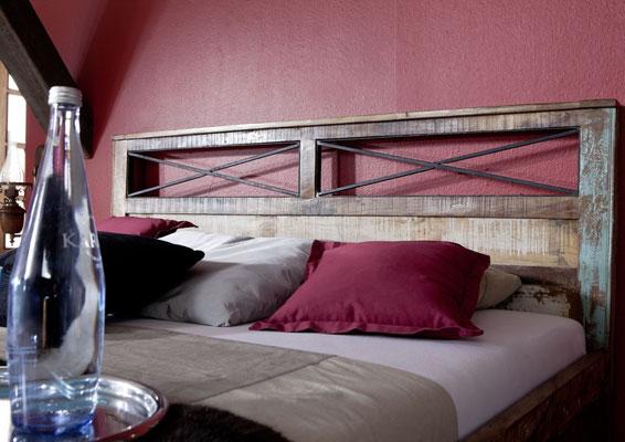 letto +legno +antico +vintage +riciclato +recupero +200 cm