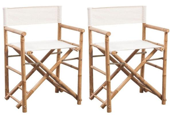 bambù #mobili #esterno #arredo #giardino #outdoor #sedia #regista #pieghevole