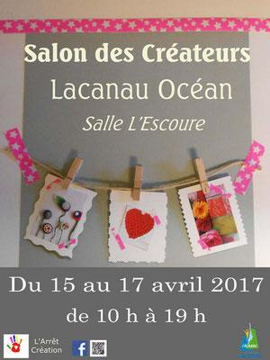 Salon des créateurs à Lacanau océan. Pâques 2017