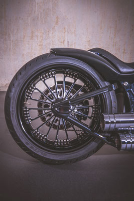 BLACK PEARL WHITE STRIPES NIGHT TRAIN Harley Davidson Solothurn