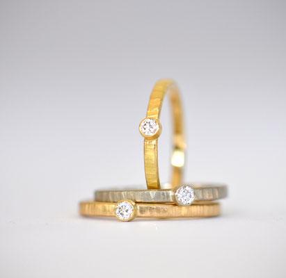 Vorsteck - Verlobungsring in 750/- Gelbgold