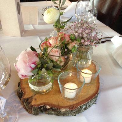 Wedding Table Decoration Hotel Landrestaurant Schnittker
