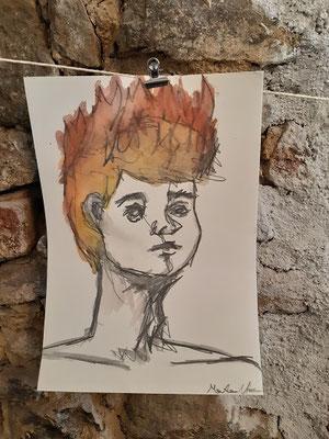 Aquarell von Marlene N., Malakademie Jugend