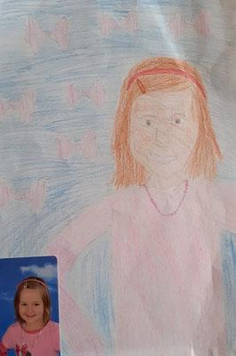 Selbstporträt von Johanna D., Malakademie Kids