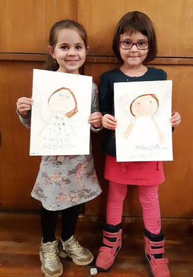 Emilia Zverjev und Sinziana Babaca, Kids, Dez. 2019