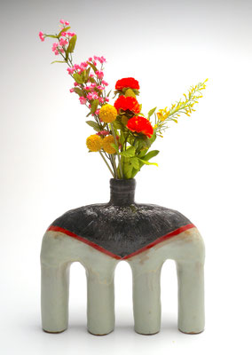 Size: Around 10 inches tall, 12 inches wide. Underglaze,and glaze on ceramic