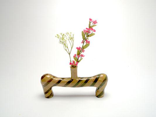 Size: Around 5 inches tall, 10 inches wide. Underglaze, slip and glaze on ceramic