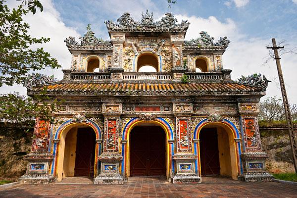 Der Eingang zur Zitadelle von Hue