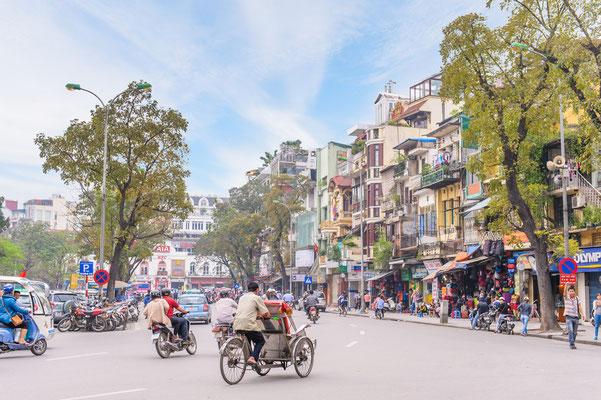 Ein Spaziergang durch Hanois Altstadt ist eine gute Gelegenheit für tolle Urlaubsfotos