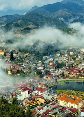 Die Stadt Sapa liegt hoch oben in den Bergen Nordvietnams