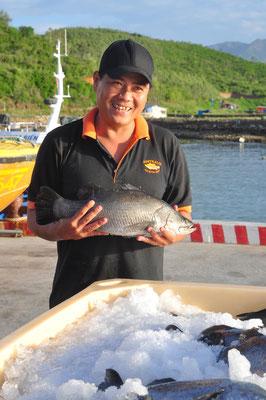 Frischer Fisch direkt aus dem Ozean
