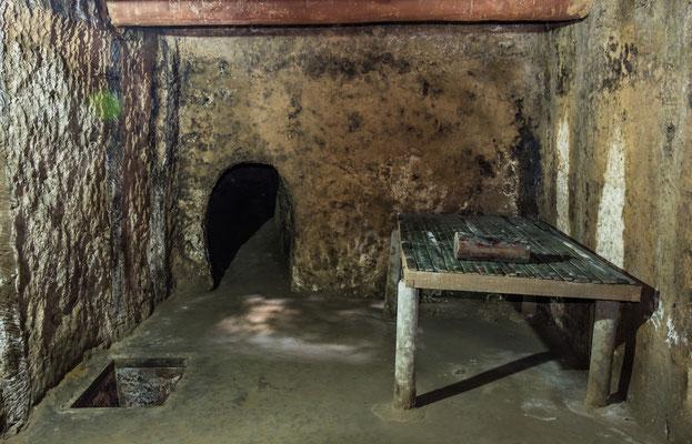 Wohnquartiere des Vietcong im Cu Chi Tunnel-Komplex