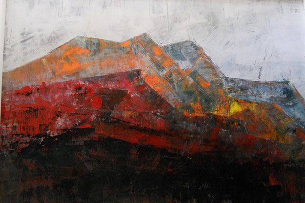 Tass Wolf - Berg 1 - 2012 - Öl, Lack auf Leinwand - 137 x 185 cm