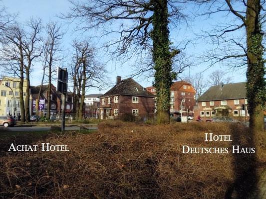 Links das Achat Hotel - Rechts Hotel Deutsches Haus