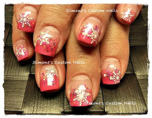 Pinke Schneeflöckchen